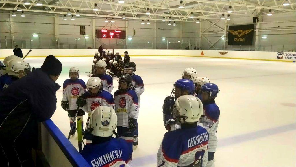 Игра по хоккею Открытое Первенство Московской области среди юношей
